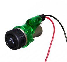 Szivargyújtó + aljzat + LED világítás AE-LS-003