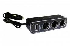 Szivargyújtó elosztó + USB AE-WF0096USB