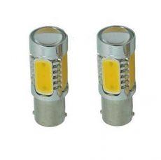 SMD-PL-6W-21Y 2db BA15S 21W LED izzó  sárga