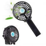Hordozható újratölthető LED-es világító ventilátor léghűtő