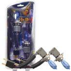 HOD Halogén izzó H4 foglalattal emelt fényerővel-kék 12V