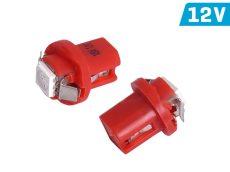 BAX B8.5d 12V piros műszerfal LED izzó CM58922