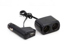 Kettes Szivargyújtó elosztó + USB AE-WF0097 / 71144