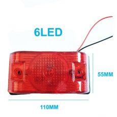AE-LA562R 24V szélességjelző/helyzetjelző piros