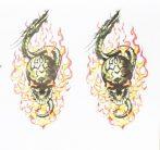Devil 13 matrica-Ördög matrica 15CM X 15CM