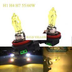 HOD Halogén izzó H4 foglalattal emelt fényerővel-sárga 12V