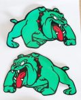 SPIKE BULL DOG matrica 2dbos L-méret Green
