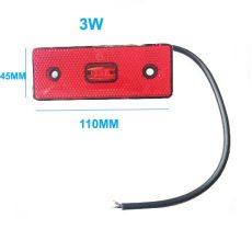 LA-607R 12-36V Szélességjelző/helyzetjelző piros