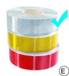 fényvisszaverő szalag kockas fehér M-HR-3CWK