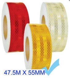 """Fényvisszaverő szalag """"E"""" jeles  45.7M - Sárga M-HT-3Y 55MM"""