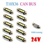 24V 10db/csomag CANBUS 3SMD LED LA513C-36CS Szofita hűtőbordas