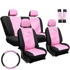 Univerzális üléshuzat UL-AG23001 pink-fekete