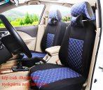 Univerzális fekete/kék steppelt üléshuzat szett UL-AG23002KÉK