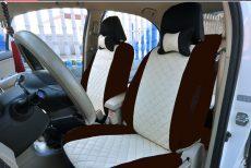 Univerzális szett steppelt bézs/barna üléshuzat UL-AG23002BE