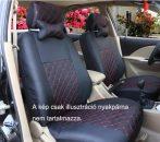 Univerzális fekete steppelt üléshuzat szett UL-AG23002BK