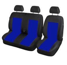 Furgon üléshuzat, 1+2 fekete-kék színű