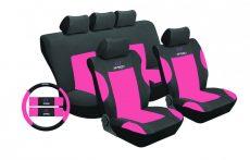 Univerzális üléshuzat UL-TY1651BKP rózsaszín-fekete